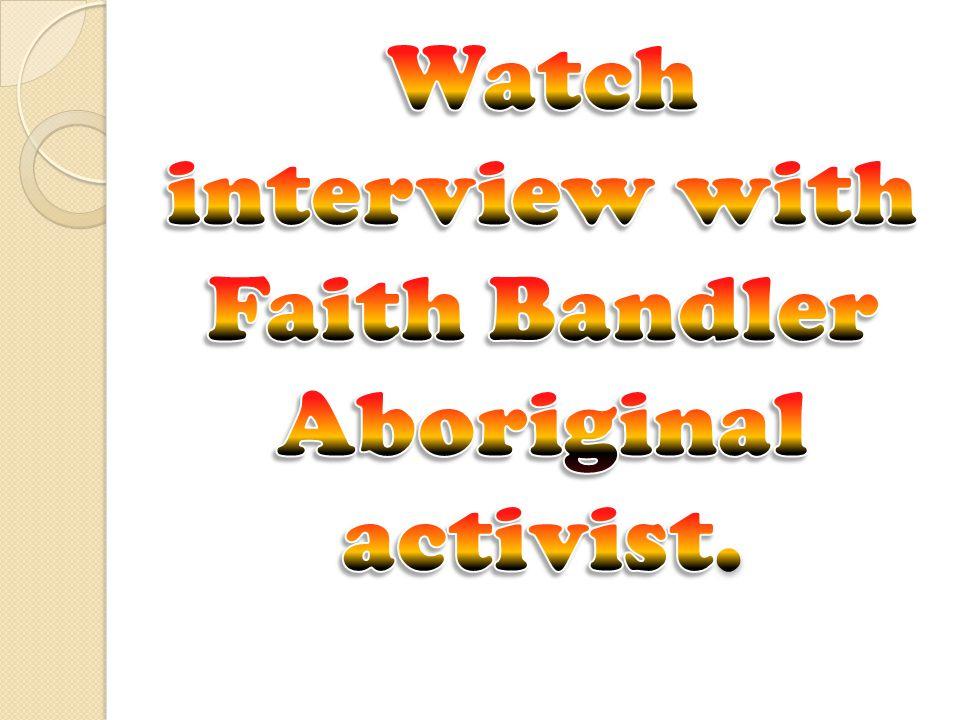 Watch interview with Faith Bandler Aboriginal activist.