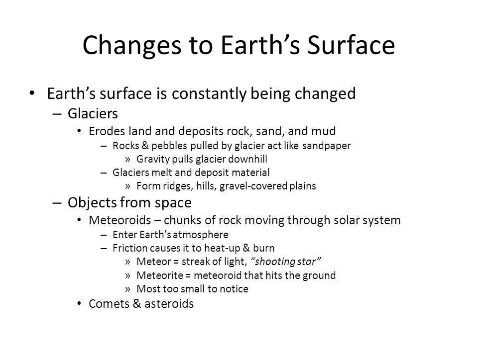 Changes to Earth's Surface
