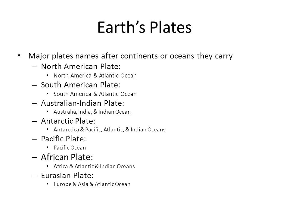 Earth's Plates African Plate: