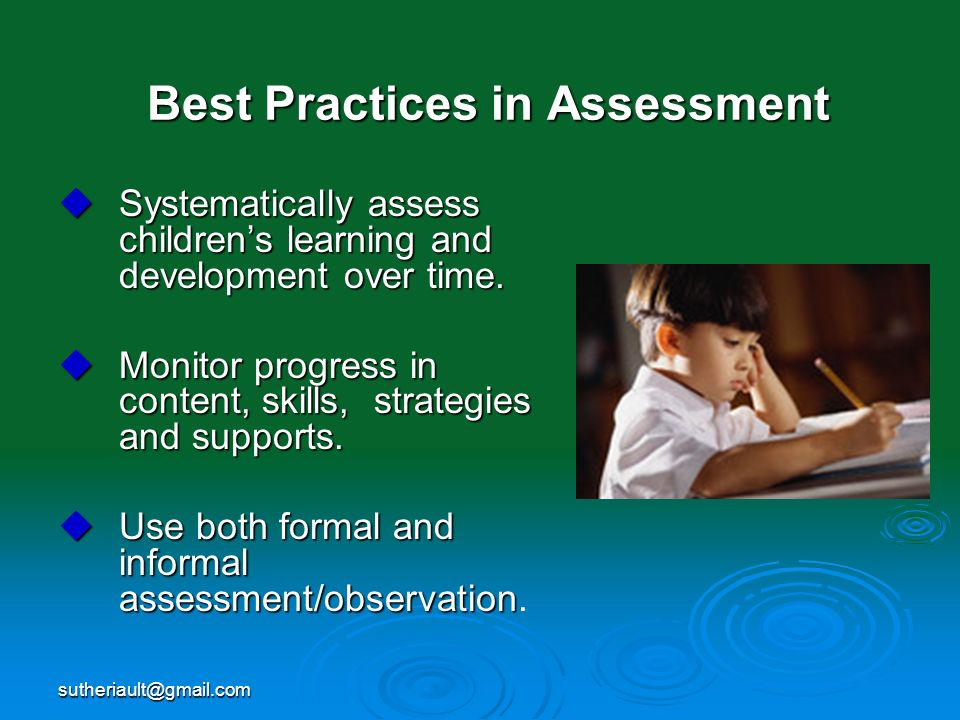 Best Practices in Assessment