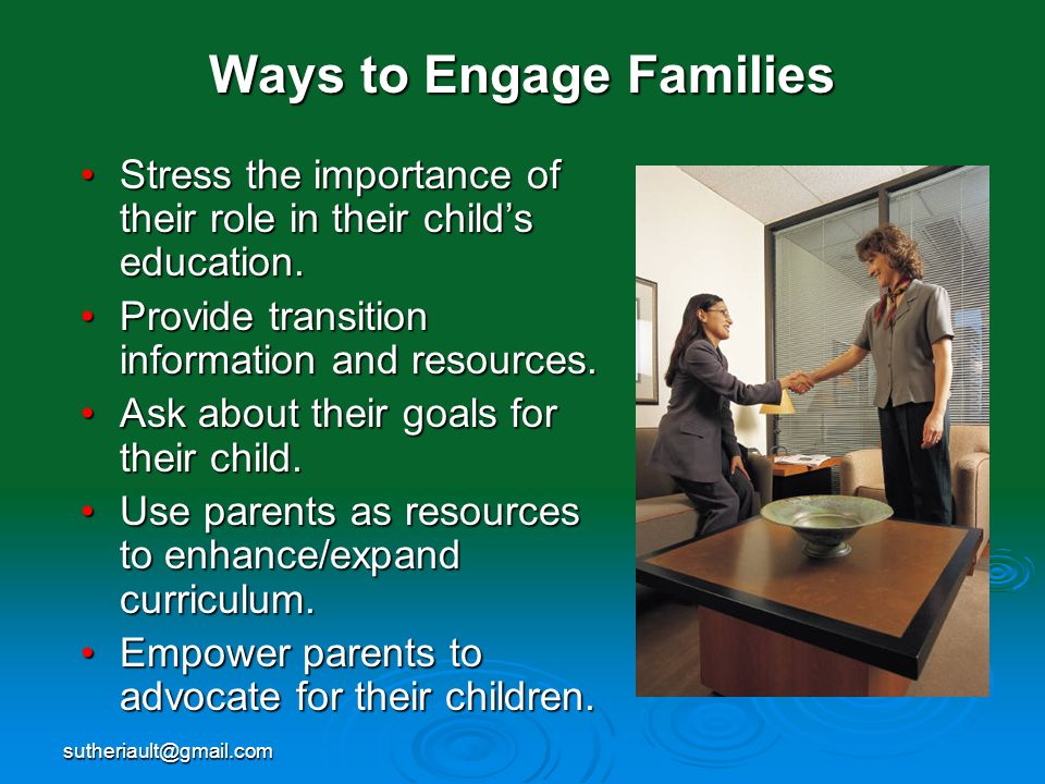 Ways to Engage Families