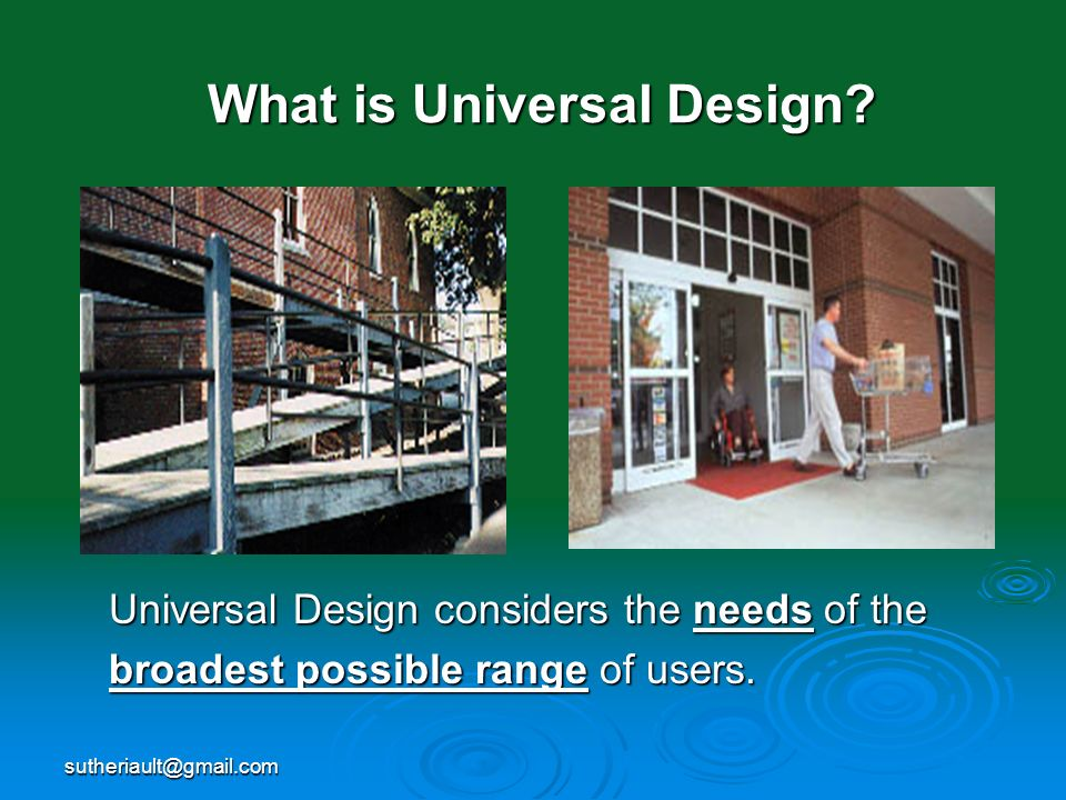 What is Universal Design