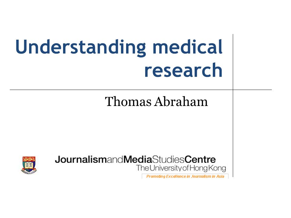 Understanding medical research
