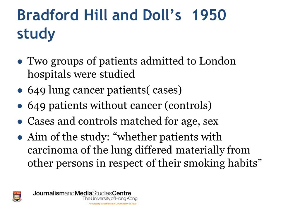 Bradford Hill and Doll's 1950 study