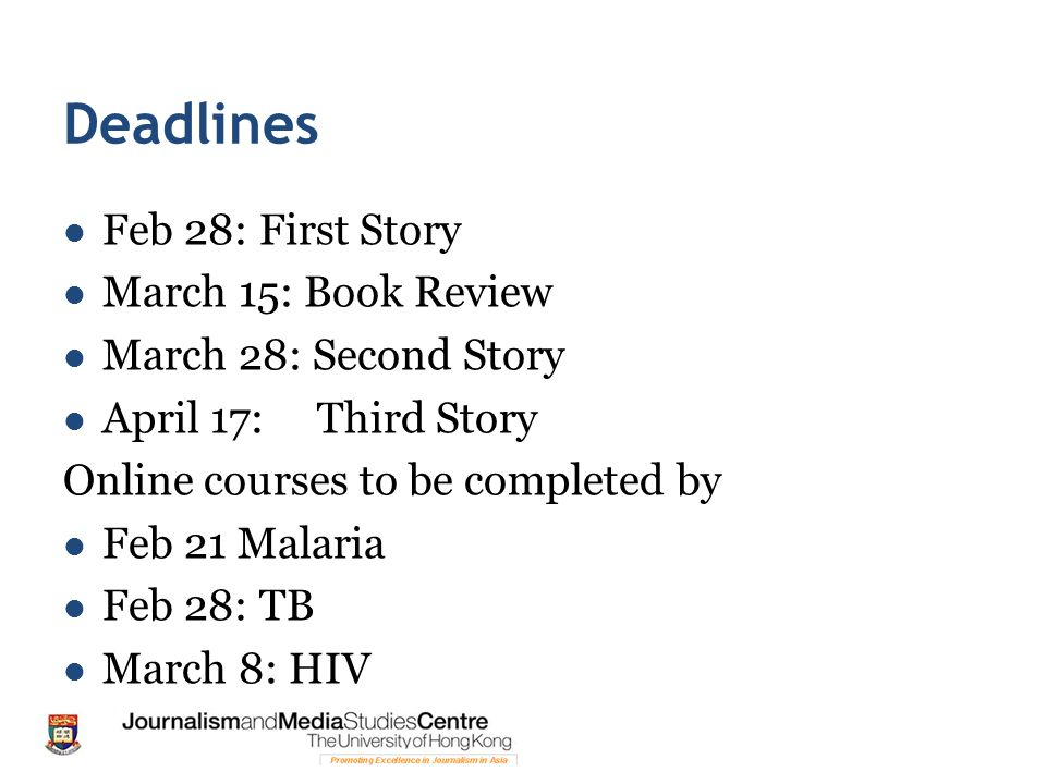 Deadlines Feb 28: First Story March 15: Book Review