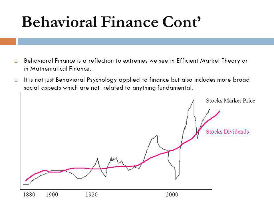 Behavioral Finance Cont'