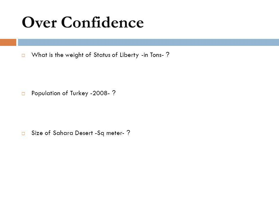 Over Confidence What is the weight of Status of Liberty -in Tons-