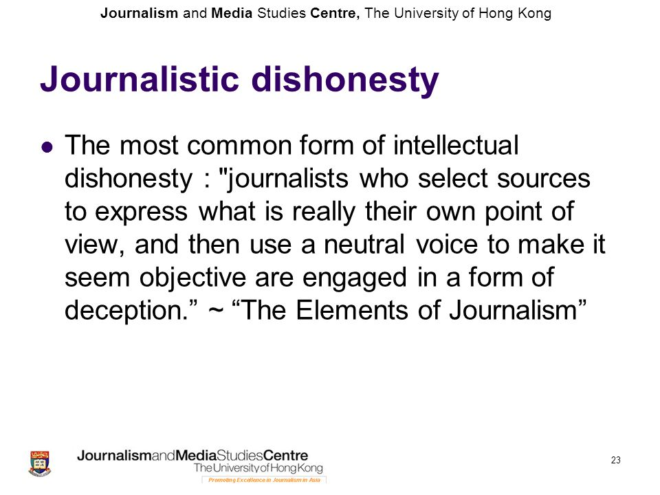 Journalistic dishonesty