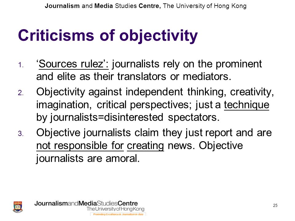 Criticisms of objectivity