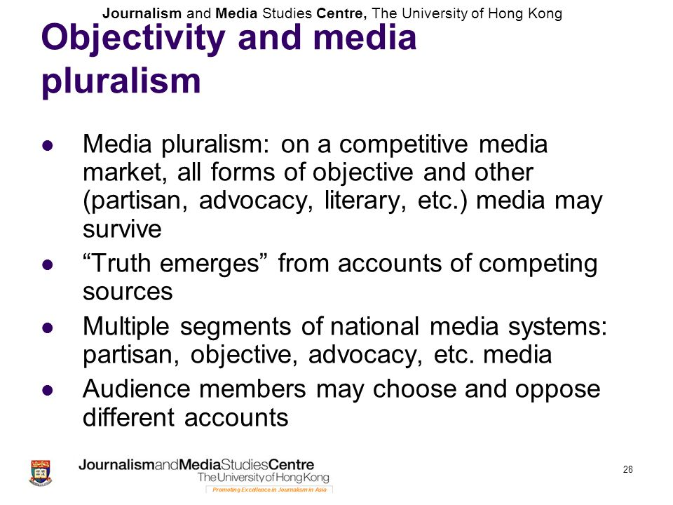 Objectivity and media pluralism