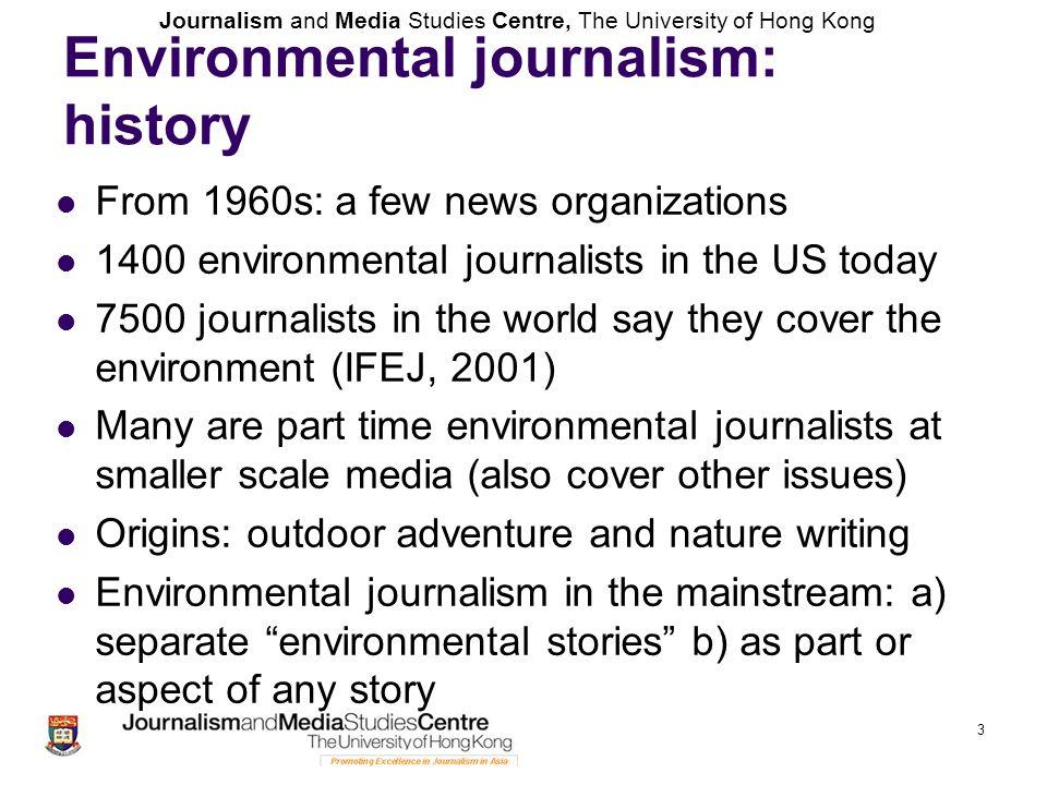 Environmental journalism: history