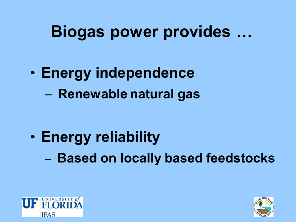 Biogas power provides …