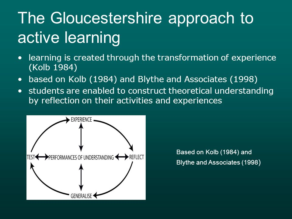 The Gloucestershire approach to active learning