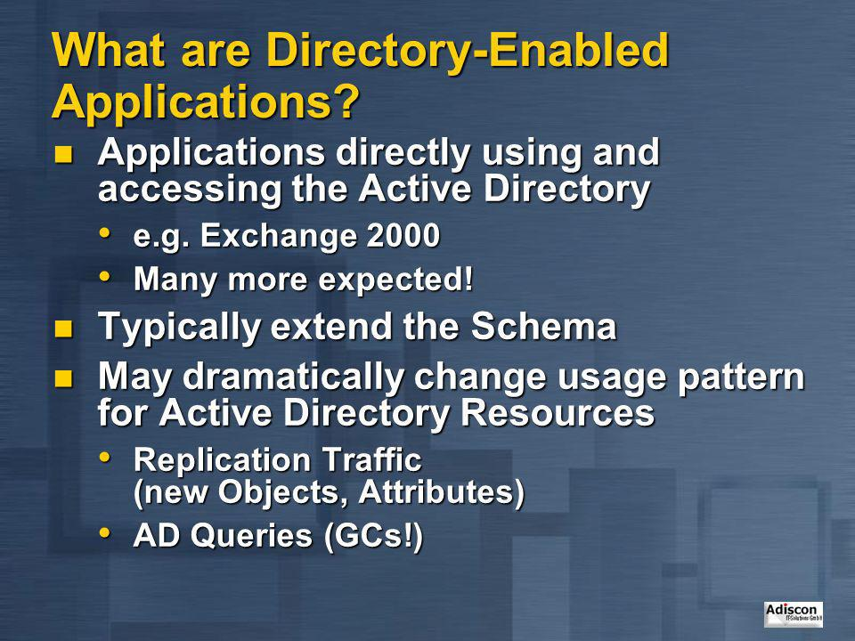 What are Directory-Enabled Applications