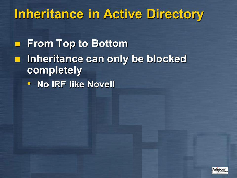 Inheritance in Active Directory