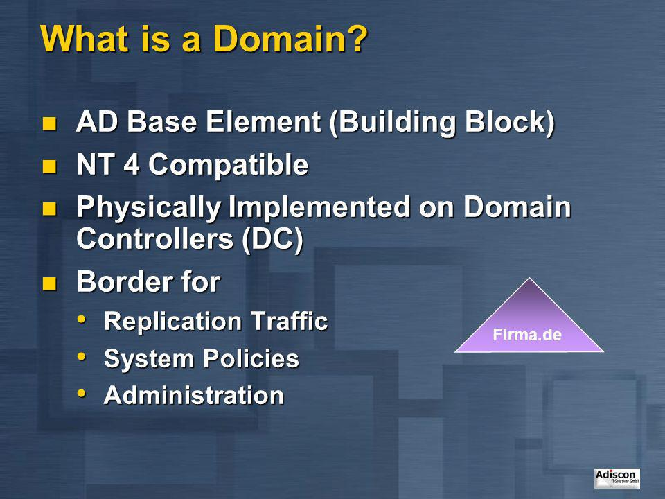 What is a Domain AD Base Element (Building Block) NT 4 Compatible
