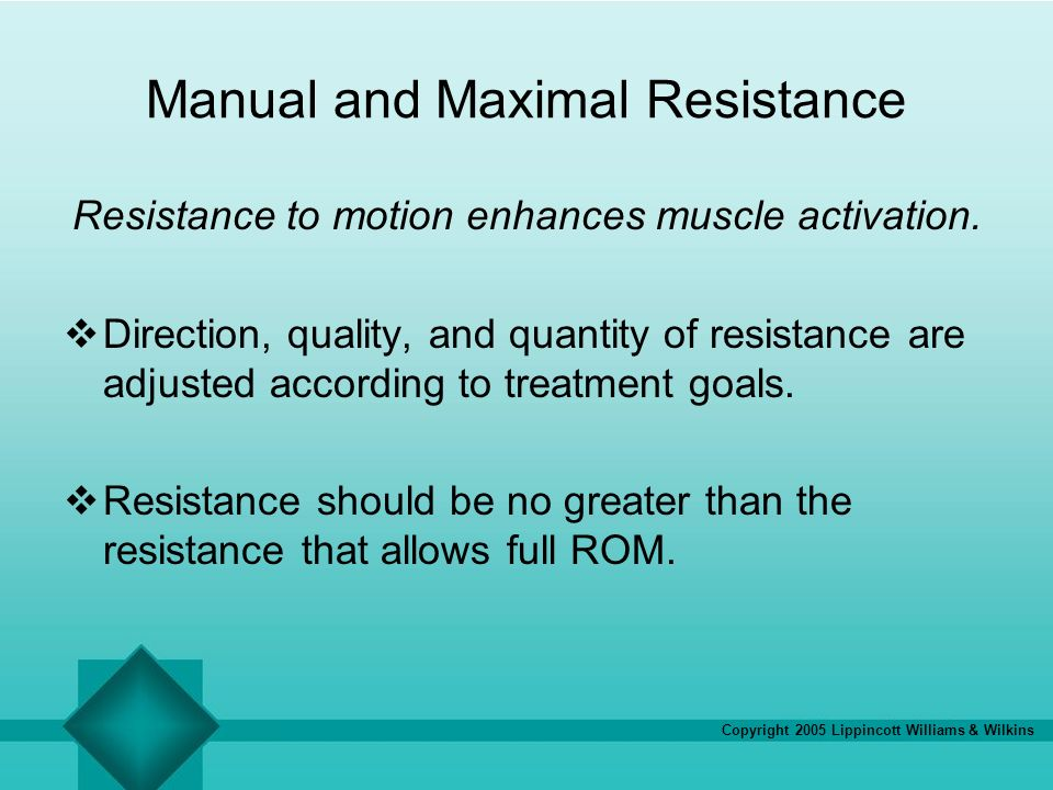 Manual and Maximal Resistance