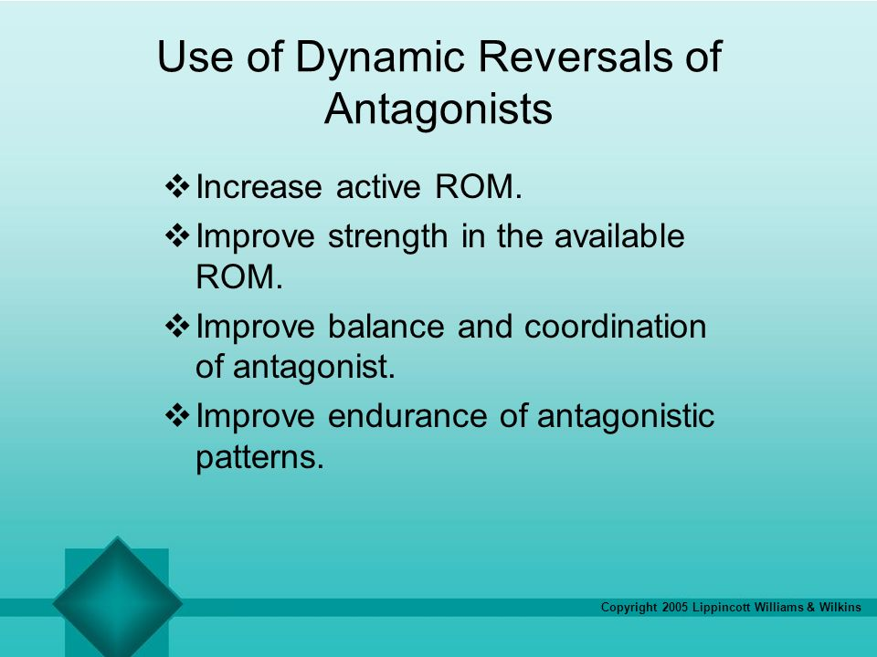 Use of Dynamic Reversals of Antagonists