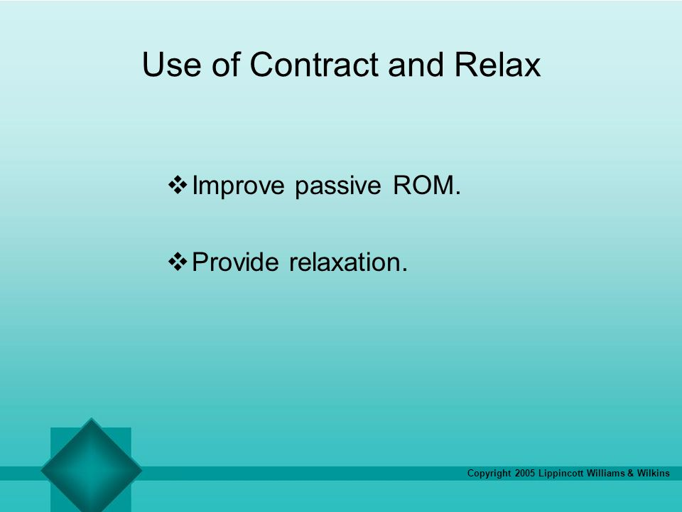 Use of Contract and Relax