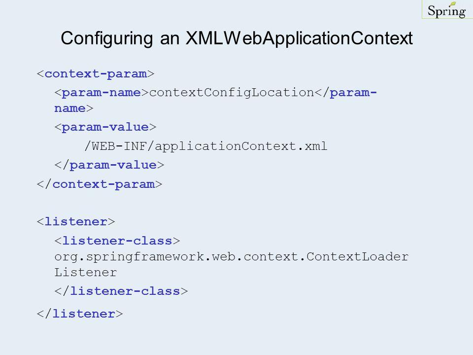 Configuring an XMLWebApplicationContext