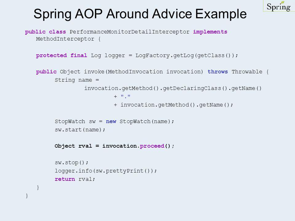 Spring AOP Around Advice Example