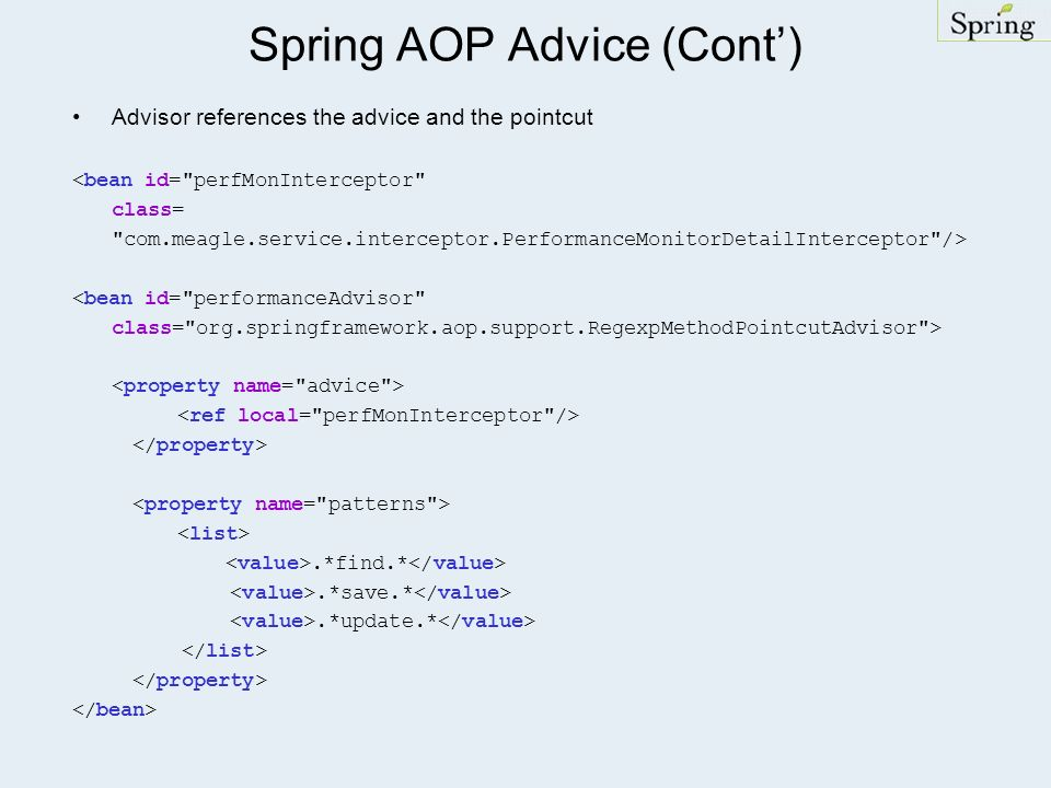 Spring AOP Advice (Cont')