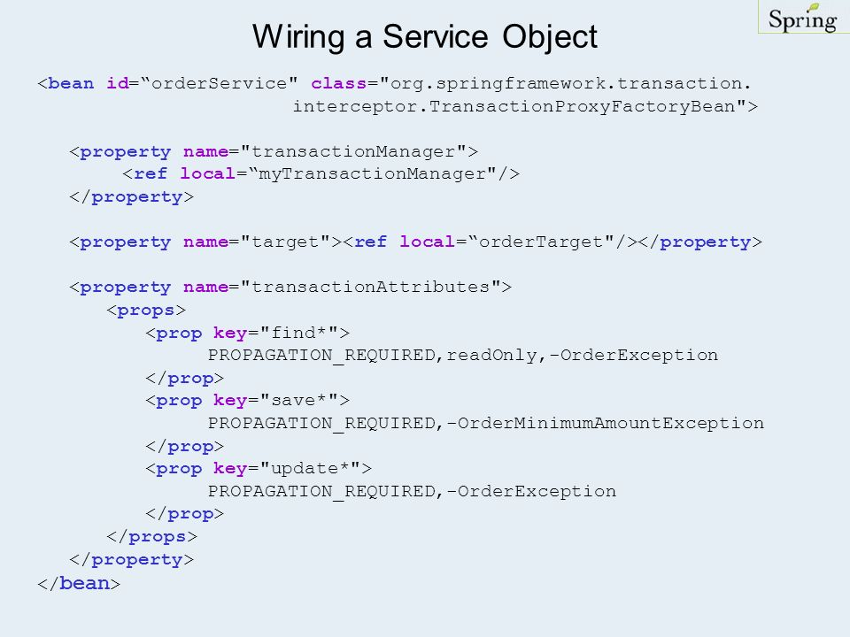 Wiring a Service Object