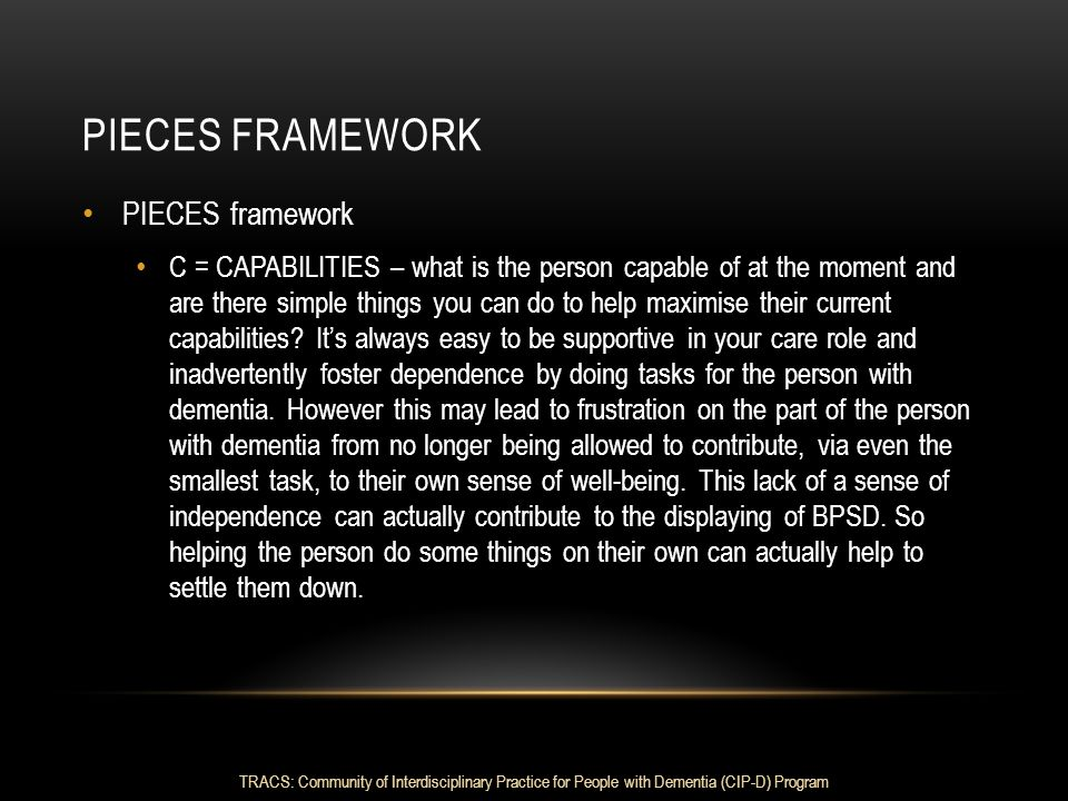 Pieces framework PIECES framework