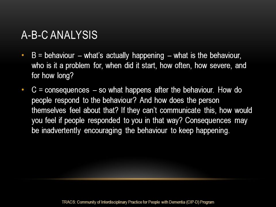 A-B-C analysis