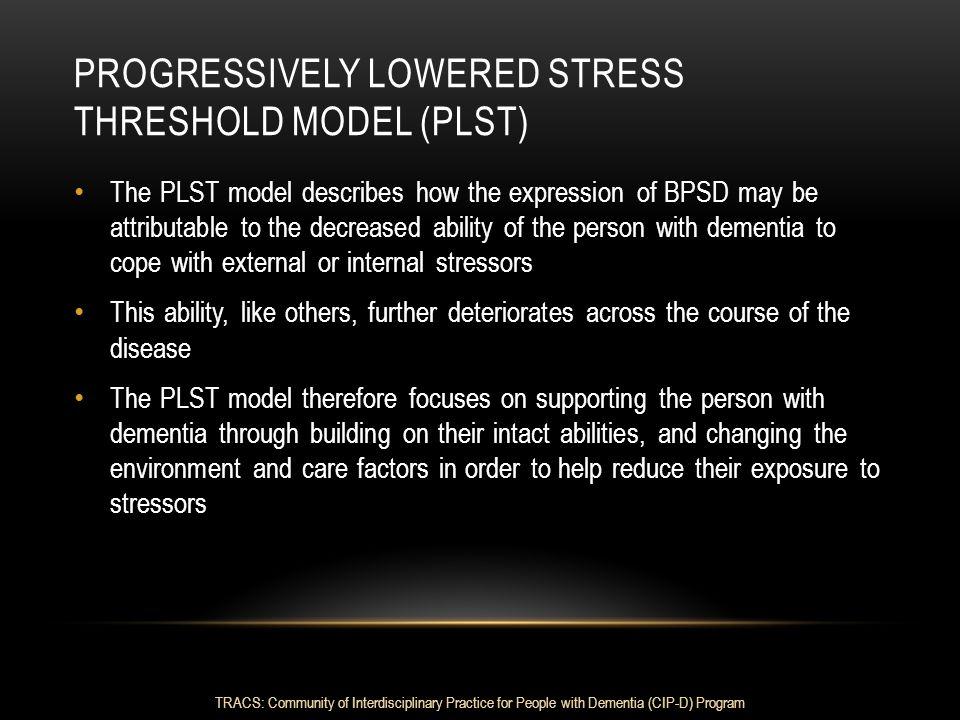 Progressively Lowered Stress Threshold model (PLST)