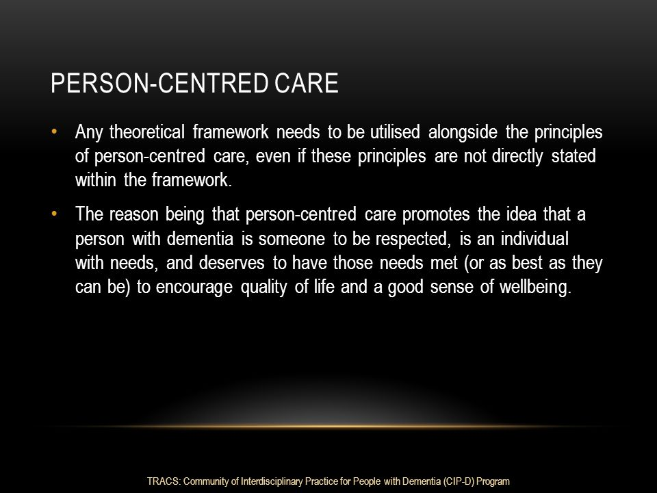 Person-centred care