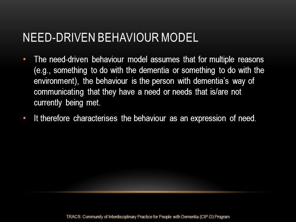 Need-driven Behaviour model