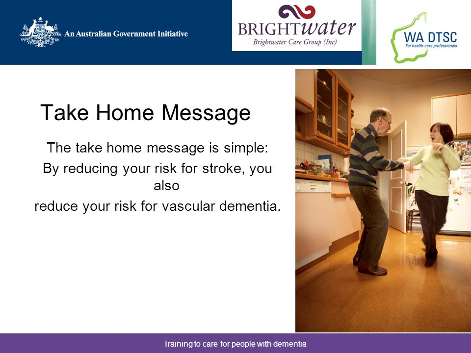 Take Home Message The take home message is simple: