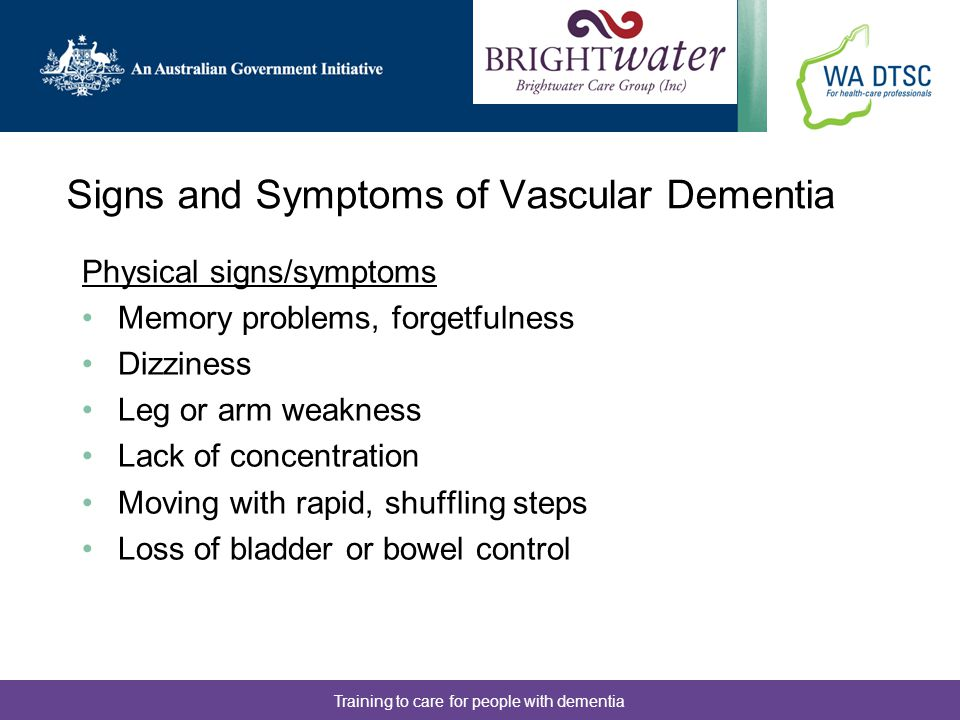 Signs and Symptoms of Vascular Dementia