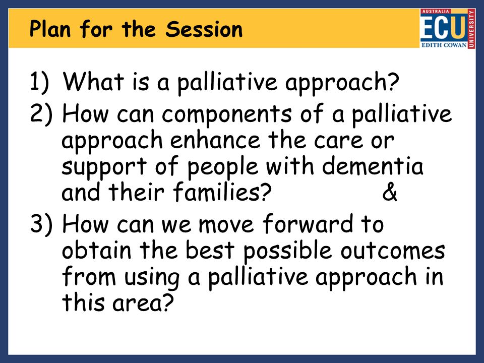 What is a palliative approach