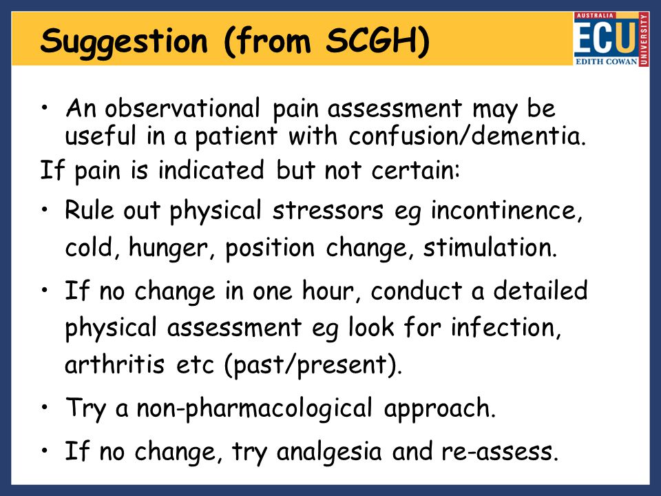 Suggestion (from SCGH)