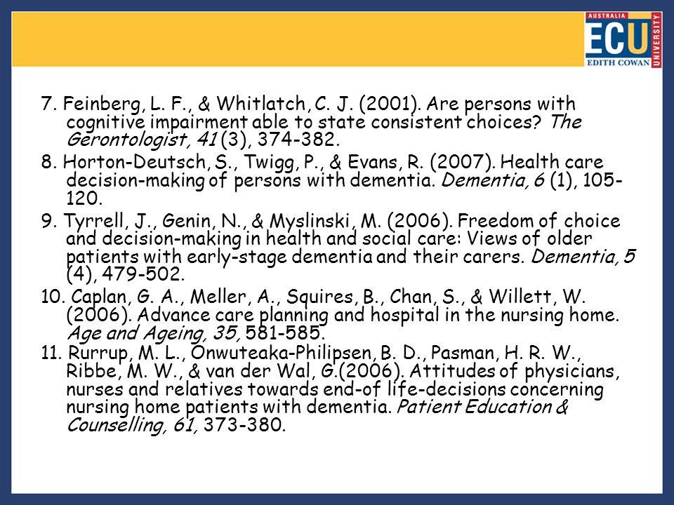 7. Feinberg, L. F. , & Whitlatch, C. J. (2001)