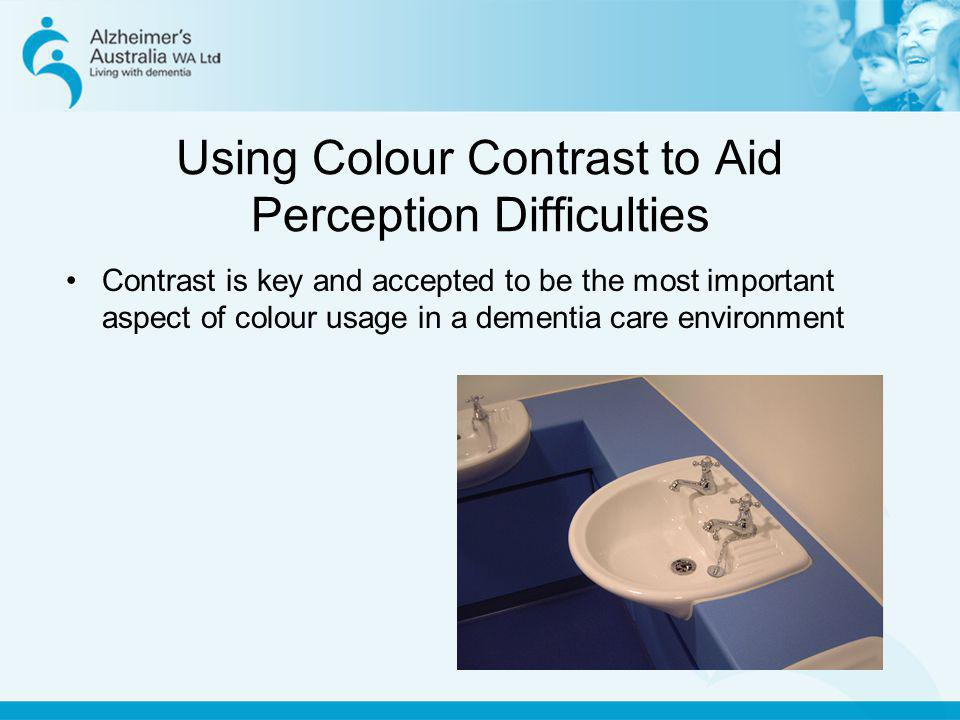 Using Colour Contrast to Aid Perception Difficulties