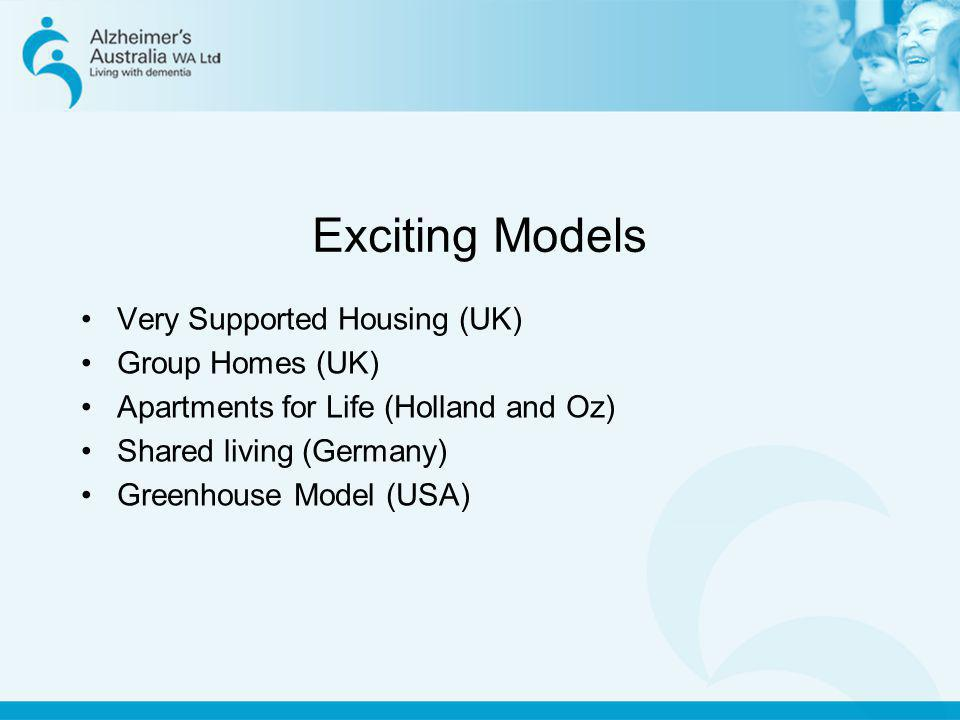 Exciting Models Very Supported Housing (UK) Group Homes (UK)