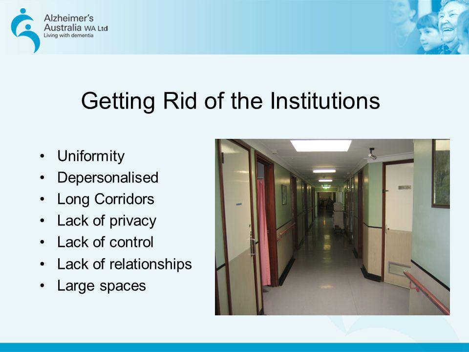 Getting Rid of the Institutions