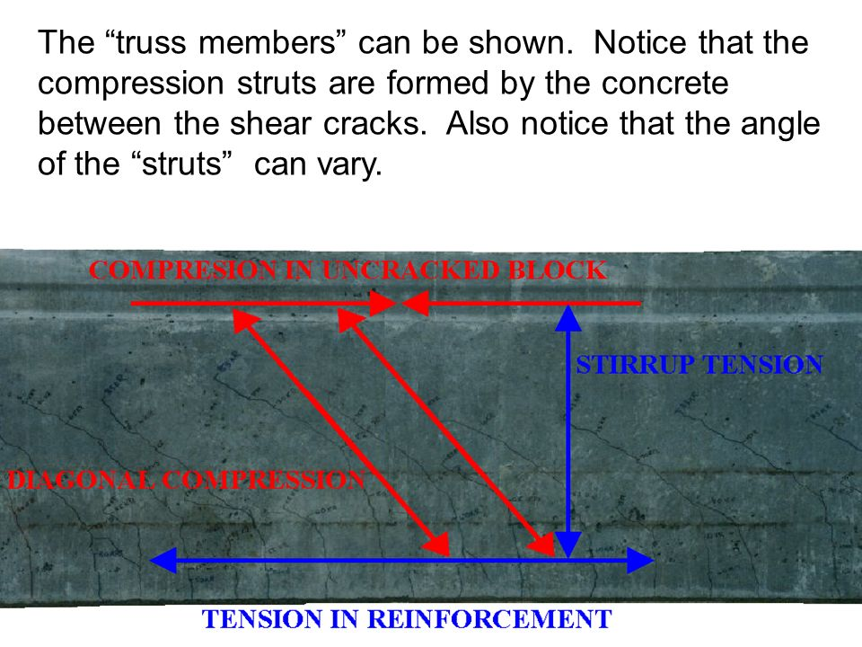 The truss members can be shown