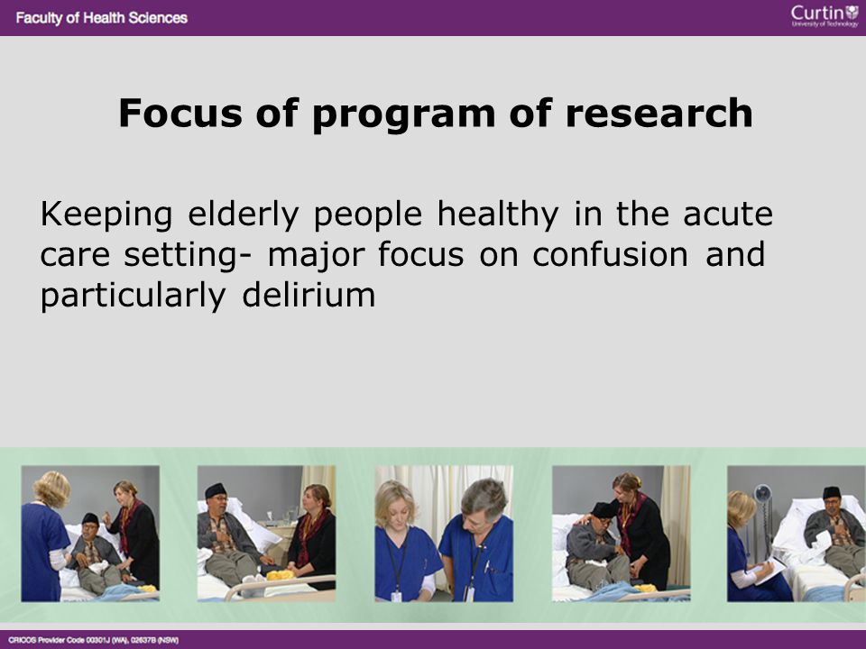Focus of program of research