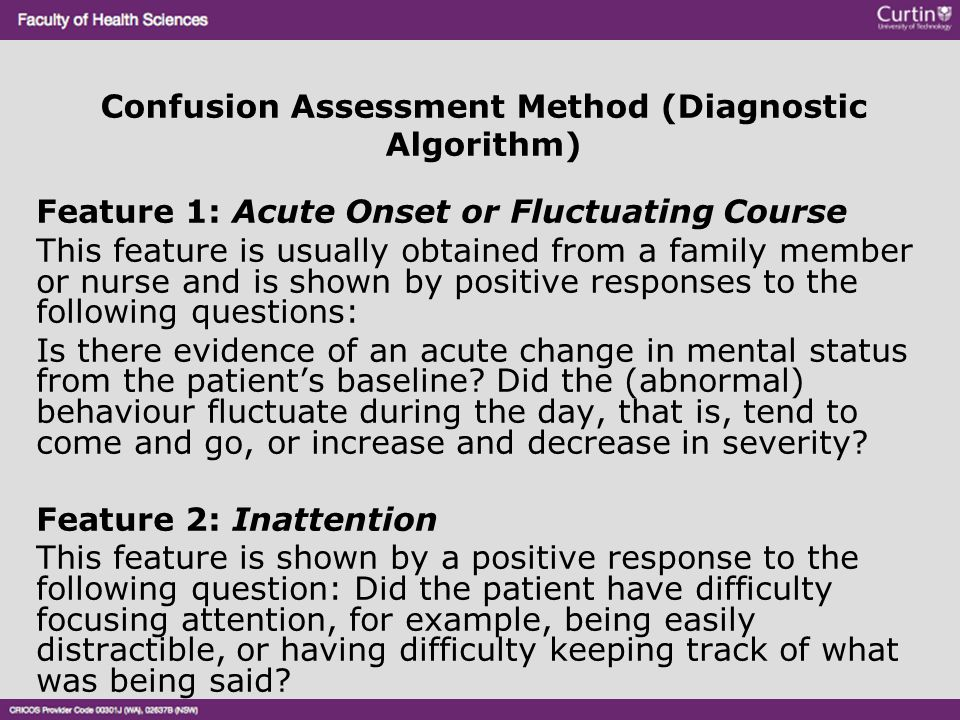 Confusion Assessment Method (Diagnostic Algorithm)