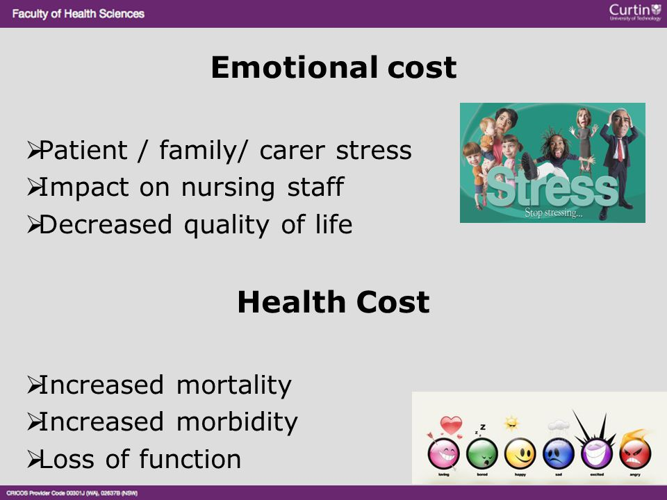 Emotional cost Health Cost