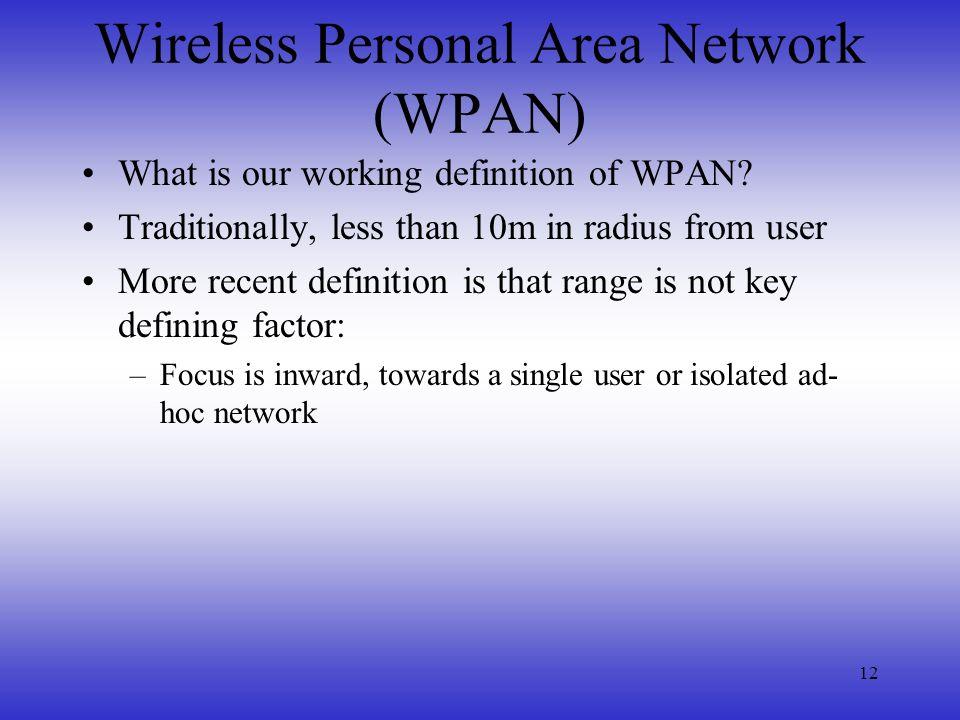 Wireless Personal Area Network (WPAN)