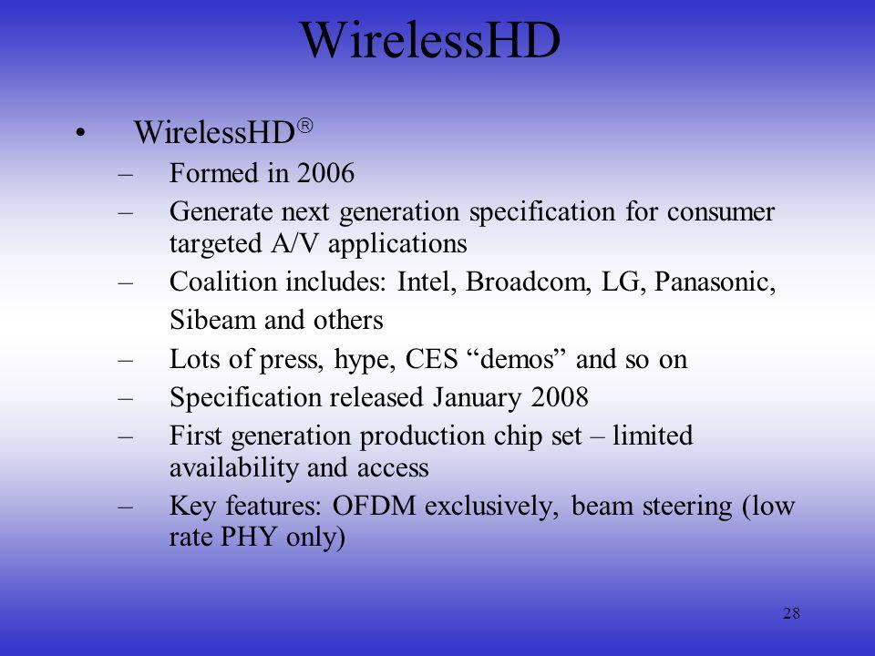 WirelessHD WirelessHD Formed in 2006