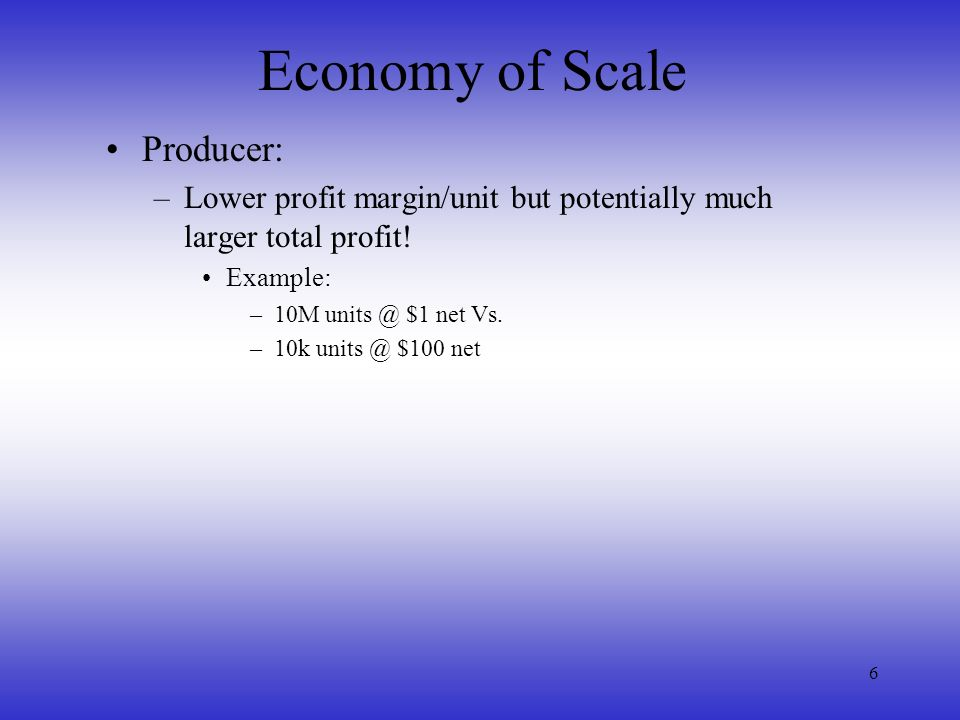 Economy of Scale Producer: