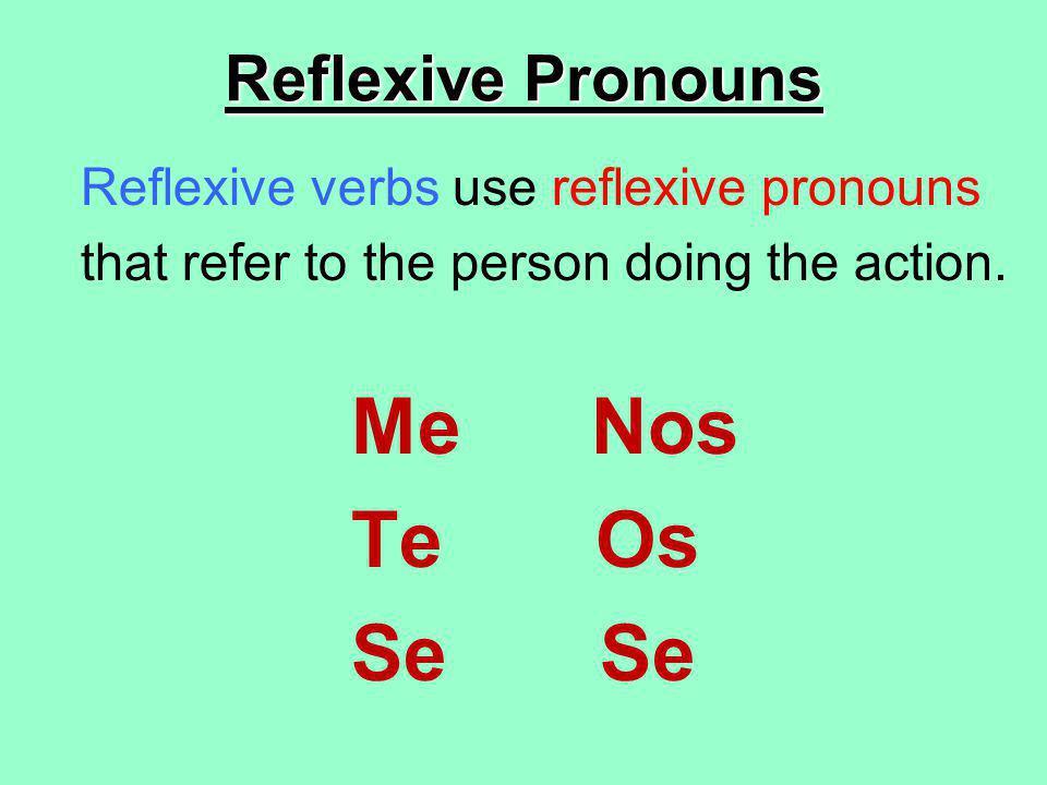 Me Nos Te Os Se Se Reflexive Pronouns