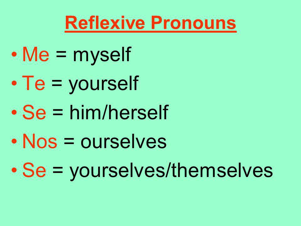 Se = yourselves/themselves