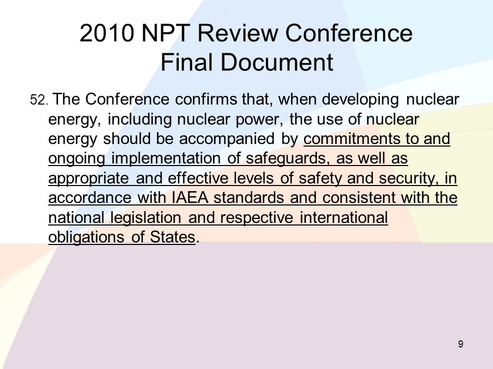 2010 NPT Review Conference Final Document